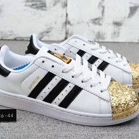 """""""Adidas Superstar """" Unisex Casual Classic Fashion Plating Multicolor Shell Head Plate Shoes Couple Sneakers Small White Shoes"""