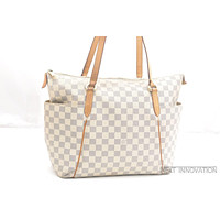 Authentic Louis Vuitton Damier Azur Totally MM Tote Bag N51206 LV 39676