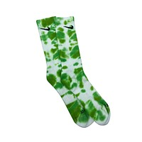 Nike Dri-Fit Tie Dye Slime Green White Socks