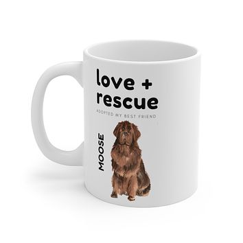 love + rescue Mug — Newfie