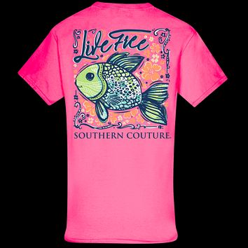Southern Couture Classic Live Free Fish T-Shirt