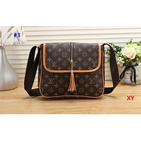 Louis Vuitton LV hot selling fashion women's printing color matching shoulder bag shopping bag #3