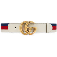 Gucci Sylvie Web Belt With Double G Buckle - Farfetch