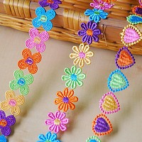H608 2.7cm Polyester Embroidered Flower Lace Trim Wedding DIY Lace Lace Ribbon Love Handmade Sewing Accessories Supplies Crafts