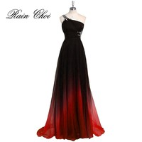 Sexy Formal Evening Homecoming Dresses One Shoulder Chiffon Prom Gowns Long Prom Dress 2017