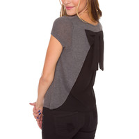 Black Bow Affair Top