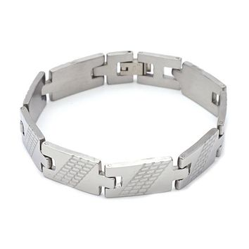 Stainless Steel 03.63.1602.08 ID Bracelet, Polished Finish, Steel Tone