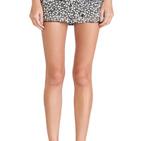 Parker Corsica Embellished Skirt in Metallic Silver