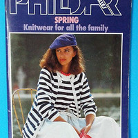 Phildar Knitting Pattern Sweaters Jackets Shawls Men Women 72 Vintage 1979