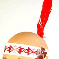 Native American Head Band with Feather