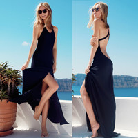 Summer Sexy Backless Spaghetti Strap Prom Dress One Piece Dress [4966208708]
