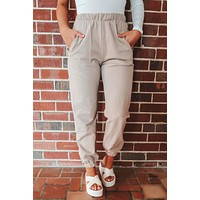 Still Feels Good Joggers: Taupe