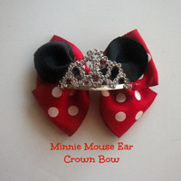 Minnie Mouse Ear Crown Bow