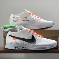 Nike x OFF WHITE Flyknit Trainer Running Shoes