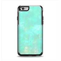The Bright Teal WaterColor Panel Apple iPhone 6 Otterbox Symmetry Case Skin Set