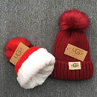 ugg knit and pom hat cap-1