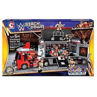 WWE StackDown Hauler with CM Punk, The Rock, Mark Henry, Daniel Bryan - Toys & Games - Action Figures & Accessories - Sports & Wrestling