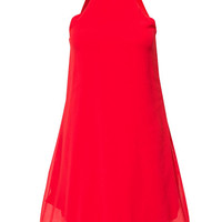 High Neck Swing Dress - Club L - Red - Party Dresses - Clothing - Women - Nelly.com