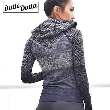 Long Sleeve Gym Top Sports Outfit Zipper Woman Yoga Top Sport Shirt Tops For Fitness Womens Sport Coats Running Stretch Yoga Top