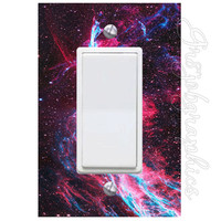 Milky Way Galaxy Light Switch Cover with Decal Deep Space Wall Art Decor LS22