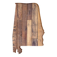 Alabama Faux Wooden wall decal