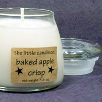 Baked Apple Crisp Soy Candle Jar - Hand Poured and Highly Scented Container Candles