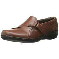 Clarks Womens Evianna Ease Leather Comfort Loafers