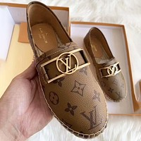 LV Shoes Louis Vuitton Women Fashion Monogram Sandals Brown