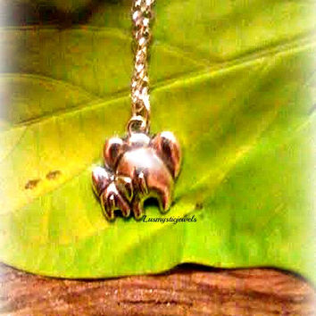 Elephant Mommy and Baby Neckace,Animal Necklace,Lucky Elephant, Good Luck Karma,Mother and Child, Mommy Gift,Ready to Ship,Direct Checkout