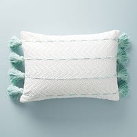 Tasseled Eyelet Pillow
