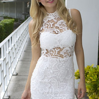 Renassaince Laced Dress - White
