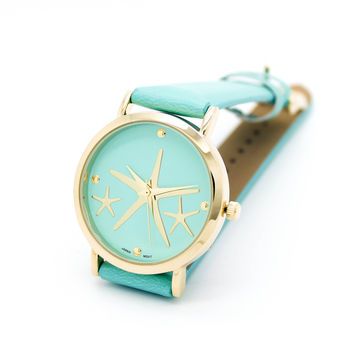 Starfish strap watch (2 colors)
