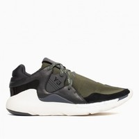 Boost QR sneakers from F/W2015-16 Y-3 by Yohji Yamamoto collection in black and green