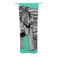 "Pom Graphic Design ""Elephant of Namibia Color"" Decorative Sheer Curtain"