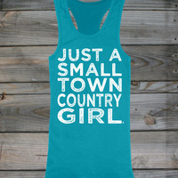 Juniors Country Girl ® Small Town Racerback Tank - Country Fashion Clothing