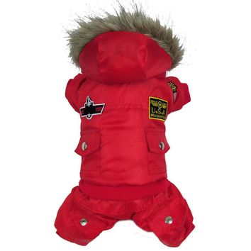 Hot Winter Dog Pet Coat Clothes Padded Hoodie Jumpsuit Pants Canis Cachorro Mascotas Costumes XS-5XL