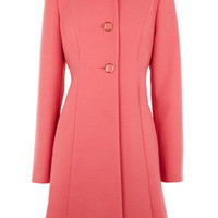 Oasis Shop | Pale Pink 60s Dolly Coat | Womens Fashion Clothing | Oasis Stores UK