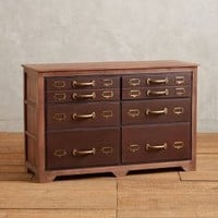 Six-Drawer Printmakers Dresser by Anthropologie Brown One Size Wall Decor
