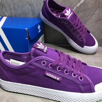 Adidas Honey low Casual Fashion Purple Canvas Shoes