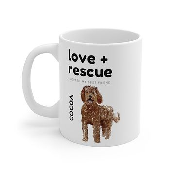 love + rescue Mug — Chocolate Labradoodle