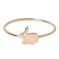 Small Bunny Ring - 18ct Gold