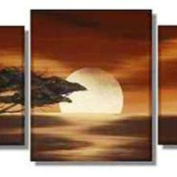 Full Moon on the Rise Canvas Wall Art