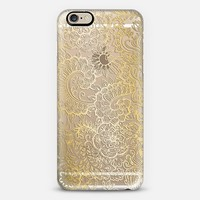 Golden Doodle on Crystal Transparent iPhone 6 case by Micklyn Le Feuvre | Casetify