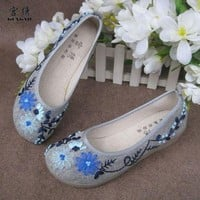 Embroidered cotton shoes/Women's shoes - 08  from Time Memory