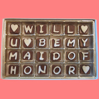 Will U Be My Maid of Honor Cubic Chocolate