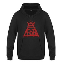 """FALL OUT BOY """"FOB"""" Men's Hoodie Punk rock band Cotton sweatshirt Pullover Hoody"""