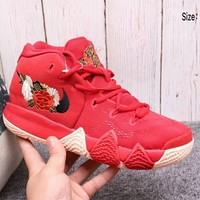 Nike Kyrie 4 new fashion men's wear combat basketball boots F-A36H-MY red