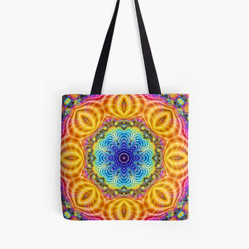 Custom made Tote bag, choice of multiple sizes. Shopping,colorful  abstract oriental peacock yellow design. Indian, moroccan, turkish