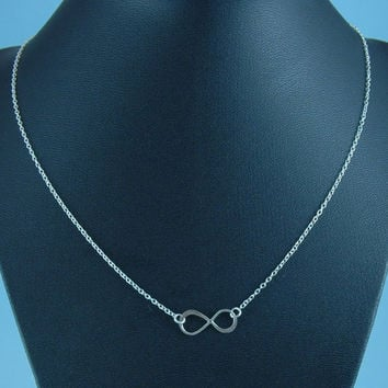 Infinity Ring Necklace, Silver Infinity Ring, Silver Infinity Charm, Wedding Jewelry, Teen Necklace