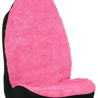 Shaggy Pink Car Seat Cover
